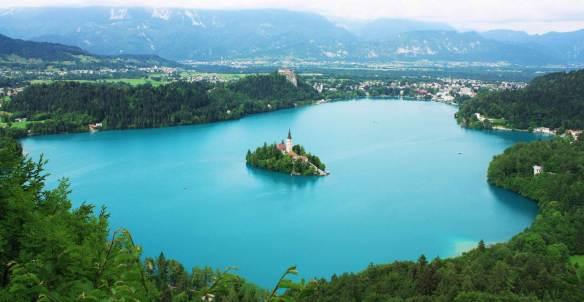 vista do lago Bled